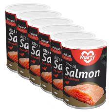 Mačja konzerva MARTY Deluxe Bits of Salmon 6 x 400 g