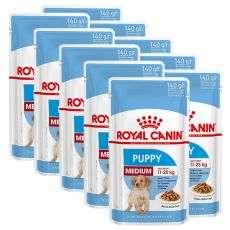 Vrečka Royal Canin Medium Puppy 10 x 140 g