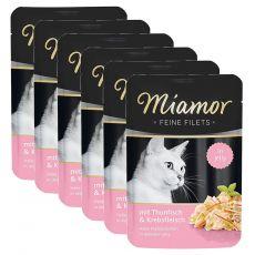 Vrečka Miamor Feine Filets tuna in rakci v želatini 6 x 100 g