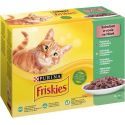 Vrečke Friskies Cat govedina, piščanec, tuna in trska v omaki 12 x 85 g