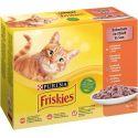 Vrečke Friskies Cat piščanec, raca, losos in puran 12 x 85 g
