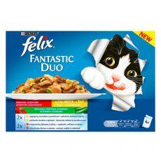 Vrečke Felix Fantastic Duo, okusna mešanica hrane z zelenjavo v želatini 4 x 100 g