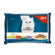 Vrečke Gourmet Perle Duo, meat mix 4 x 85 g