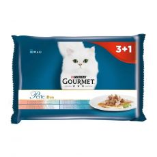 Vrečke Gourmet Perle Duo, fish mix 4 x 85 g