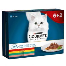 Vrečke Gourmet Perle, mini fileji v omaki 8 x 85 g