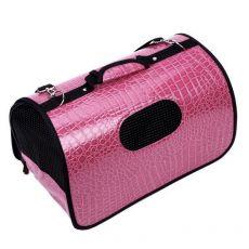 Transportna torba za pse in mačke, temno roza, 47 x 26 x 26 cm