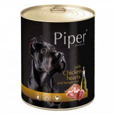 Konzerva Piper Adult piščančja srca in rjavi riž 800 g