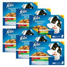 Vrečke Felix Fantastic Duo, okusna mešanica hrane z zelenjavo v želatini 6 x 400 g