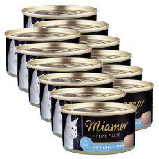 Konzerva mačje hrane Miamor Filet, tuna in rakci, 12 x 100 g