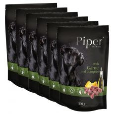 Vrečka Piper Adult divjačina in buča 6 x 500 g