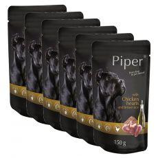 Vrečka Piper Adult piščančja srca in rjavi riž 6 x 150 g