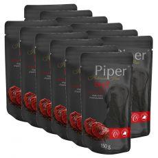 Vrečka Piper Platinum Pure govedina in rjavi riž 12 x 150 g