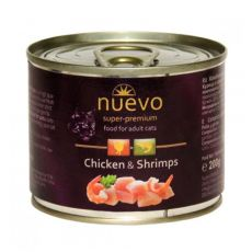Konzerva NUEVO CAT Adult Chicken & Shrimps 200 g