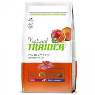 Trainer Natural Adult Medium, govedina in riž 3 kg