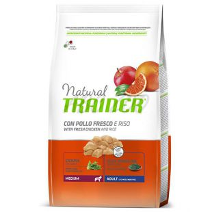 Trainer Natural Adult Medium, piščanec in riž 3 kg