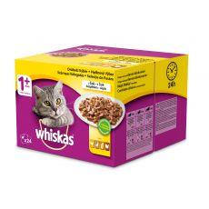 Hrana v vrečki Whiskas, izbor hran v želatini 24 x 100g