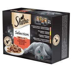 Hrana v vrečki Sheba, sočen izbor 12 x 85g