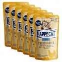 Vrečka Happy Cat ALL MEAT Adult Chicken & Duck 6 x 85 g