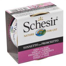 Schesir cat tuna s šunko v želatini 85 g