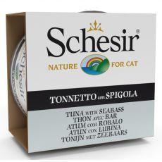 Schesir cat tuna in brancin v želatini 85 g