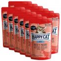 Vrečka Happy Cat ALL MEAT Adult Beef & Heart 12 x 85 g