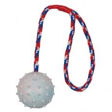 Igrača za psa - 6 cm žoga na vrvi