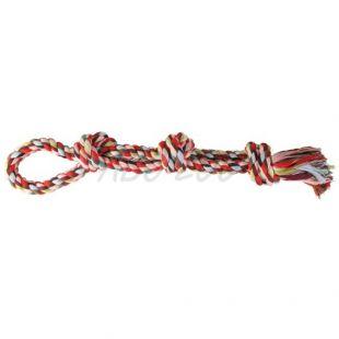 Igrača za psa - bombažna vrv z vozlom - 60 cm