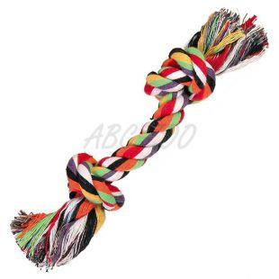 Igrača za psa - bombažna vrv z dvema vozloma - 15 cm