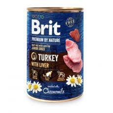 Konzervirana hrana Brit premium by Nature Turkey & Liver 400 g