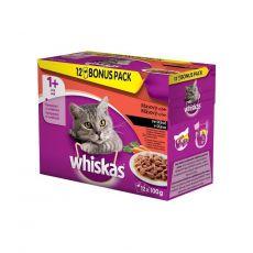 Mokra hrana Whiskas klasičen izbor hrane z zelenjavo v soku 12 x 100 g
