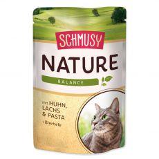 Mokra hrana Schmusy Nature piščanec in losos 100 g