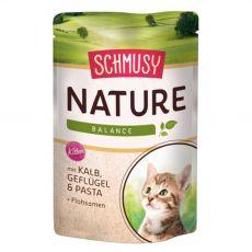 Mokra hrana Schmusy Nature Kitten teletina in perutnina 100 g