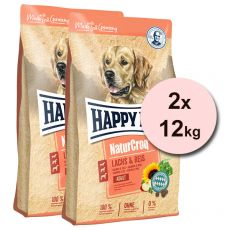 Happy Dog NaturCroq Lachs & Reis 2 x 12 kg