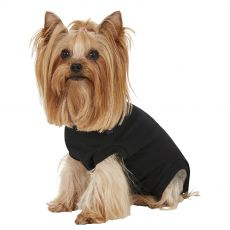Pooperacijska obleka za psa XS črna