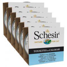 Schesir cat tuna in lignji v želatini 6 x 85 g