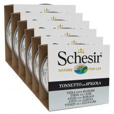 Schesir cat tuna in brancin v želatini 6 x 85 g