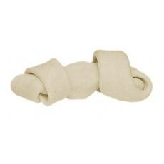 Zavozlana kost za žvečenje - bela - 50 g, 11 cm