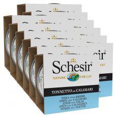 Schesir cat tuna in lignji v želatini 12 x 85 g