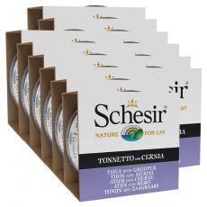 Schesir cat tuna in kirnja v želatini 12 x 85 g