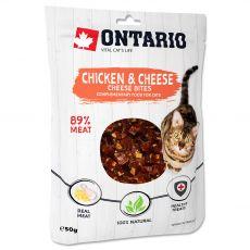 Ontario Cat priboljški s piščancem in sirom 50 g