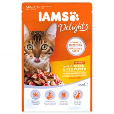 Iams Cat chicken & red pepper 85 g