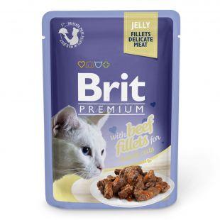 Hrana v vrečki BRIT Premium Cat Beef in Jelly 85 g