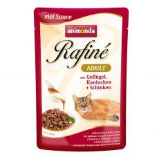 Animonda Rafiné Cat perutnina, zajec in šunka 100 g