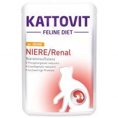 Hrana v vrečki Kattovit Niere / Renal kidney piščanec 85 g