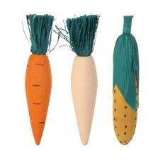 Lesene igračke za glodavce - 3 kosi zelenjave - 10 cm