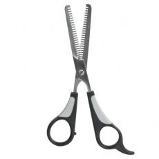Škarje za redčenje dlake - dvostranske, 18 cm