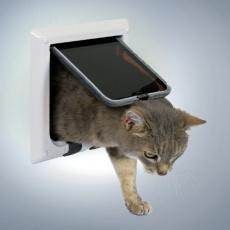 Loputa za mačke s 4 načini zaklepanja – bela