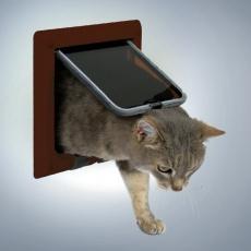 Loputa za mačke s 4 načini zaklepanja – rjava