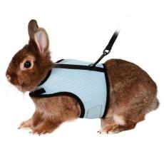 Povodec in oprsnica za zajce - zapenjanje na ježka