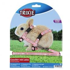 Oprsnica s povodcem za pritlikave zajce - roza